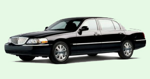 Black Lincoln town car
