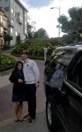 Couple at Lombard Street (Crookedest Street in San Francisco)